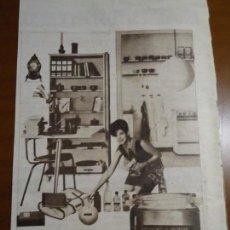 Coleccionismo de Revista Hola: RECORTE REVISTA HOLA AÑO 1963 PUBLICIDAD ETIQUETAS DYMO.. Lote 159364606