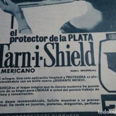 Coleccionismo de Revista Hola: RECORTE REVISTA HOLA AÑO 1963 PUBLICIDAD TARN-I-SHIELD AMERICANO. Lote 159365490