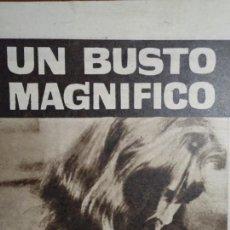 Coleccionismo de Revista Hola: RECORTE REVISTA HOLA AÑO 1963 PUBLICIDAD UN BUSTO MAGNIFICO.. Lote 159463926