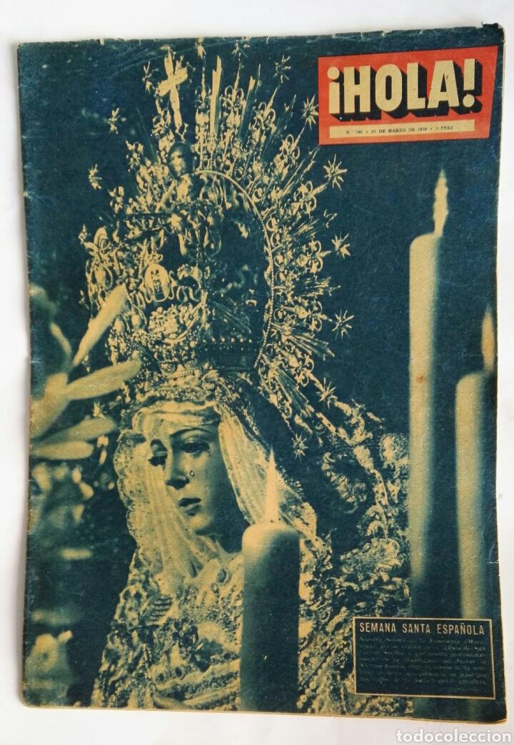 REVISTA HOLA! MARZO 1959 SEMANA SANTA (Coleccionismo - Revistas y Periódicos Modernos (a partir de 1.940) - Revista Hola)