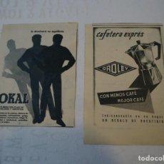 Coleccionismo de Revista Hola: RECORTE DE REVISTA HOLA DE 1963 DOS PUBLICIDADES OROLEY Y OKAL.. Lote 159611442
