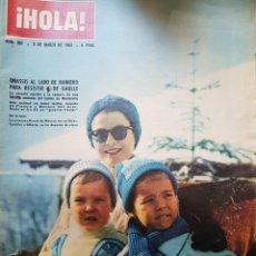 Coleccionismo de Revista Hola: REVISTA HOLA NUM 967 MARZO 1963. Lote 159855653
