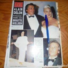 Coleccionismo de Revista Hola: RECORTE : ALAIN DELON, ENTUSIASMADO CON BRIGITTE NIELSEN. HOLA,OCTBRE 1987 (). Lote 159862386