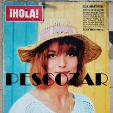 Coleccionismo de Revista Hola: REVISTA HOLA Nº 1154 - 8 OCTUBRE 1966 - ELSA MARTINELLI, SYLVIE VARTAN, THE BEATLES, JACKIE KENNEDY. Lote 159971438