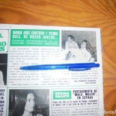 Collectionnisme de Magazine Hola: RECORTE : MARIA JOSE CANTUDO Y PEDRO RUIZ, DE NUEVO JUNTOS. HOLA, ABRIL 1982 (). Lote 159991834