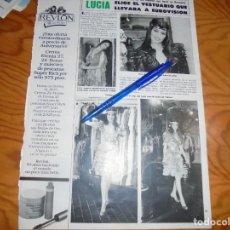 Coleccionismo de Revista Hola: RECORTE : LUCIA ELIGE VESTUARIO PARA EUROVISION. HOLA, ABRIL 1982 (). Lote 159992602