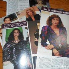 Coleccionismo de Revista Hola: RECORTE : LAS 100 ESPAÑOLAS MAS ELEGANTES DEL AÑO 1985. HOLA, NVBRE 1985 (). Lote 160025746