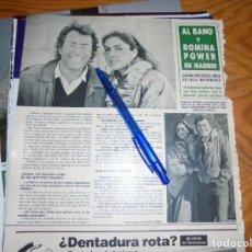 Coleccionismo de Revista Hola: RECORTE : AL BANO Y ROMINA POWER EN MADRID. HOLA, DCMBRE 1986 (). Lote 160100326