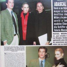 Coleccionismo de Revista Hola: RECORTE REVISTA HOLA Nº 2694 1996 NATI ABASCAL. Lote 160126382