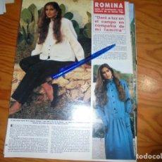Coleccionismo de Revista Hola: RECORTE : ROMINA POWER, DARA A LUZ EN EL CAMPO. HOLA, DICBRE 1985 (). Lote 160345658