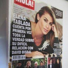 Coleccionismo de Revista Hola: HOLA REVISTA 3877 NOVIEMBRE 2018 ELENA TABLADA HABLA SOBRE BISBAL . Lote 160412790