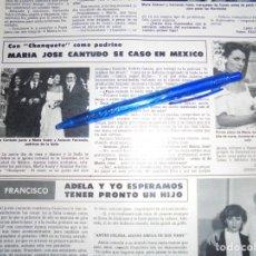 Coleccionismo de Revista Hola: RECORTE : MARIA JOSE CANTUDO SE CASA EN MEXICO, CHANQUETE DE PADRINO. HOLA, ENERO 1983 (). Lote 160446822