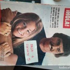 Coleccionismo de Revista Hola: REVISTA HOLA 1506 * 7 JULIO 1973 * JACKIE + ALAIN DELON + SOFIA LOREN + CARMEN SEVILLA * 61. Lote 160492810