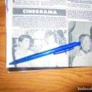 Coleccionismo de Revista Hola: RECORTE : AMPARO MUÑOZ, MIGUEL BOSÉ Y TONY CANTÓ, JUNTOS EN EL CINE. HOLA, MAYO 1985 (). Lote 160602858