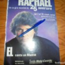 Coleccionismo de Revista Hola: RECORTE : RAPHAEL, PUBLICIDAD DE SU GIRA 25 ANIVERSARIO. HOLA, MAYO 1985 (). Lote 160603090