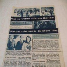 Coleccionismo de Revista Hola: RECORTE REVISTA HOLA AÑO 1964 ARTICULO UN AÑO DEL ASESINATO DE KENNEDY. Lote 160680514