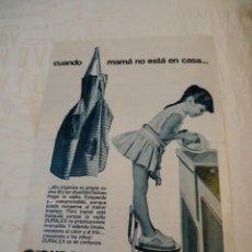 Coleccionismo de Revista Hola: RECORTE REVISTA HOLA AÑO 1964 PUBLICIDAD DE VAJILLA DURALEX. Lote 160681830