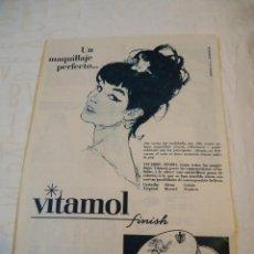 Coleccionismo de Revista Hola: RECORTE REVISTA HOLA AÑO 1964 PUBLICIDAD DE VITAMOL MAQUILLAJE PERFECTO . Lote 160682086