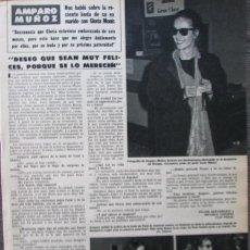 Coleccionismo de Revista Hola: RECORTE REVISTA HOLA Nº 2060 1984 AMPARO MUÑOZ. . Lote 160715790