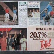 Collezionismo di Rivista Hola: RECORTE REVISTA HOLA Nº 2060 1984 FESTIVAL EUROVISION, SUECIA, GRUPO BRAVO. Lote 160719498
