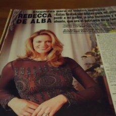 Coleccionismo de Revista Hola: RECORTE REPORTAJE REVISTA HOLA AÑO 2000 REBECA DE ALBA. Lote 160721518