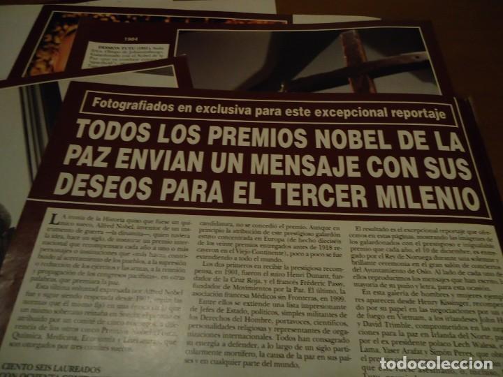 RECORTE REPORTAJE REVISTA HOLA AÑO 2000 TODOS LOS PREMIOS NOBEL DE LA PAZ (Coleccionismo - Revistas y Periódicos Modernos (a partir de 1.940) - Revista Hola)