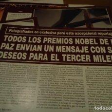 Coleccionismo de Revista Hola: RECORTE REPORTAJE REVISTA HOLA AÑO 2000 TODOS LOS PREMIOS NOBEL DE LA PAZ. Lote 160721950