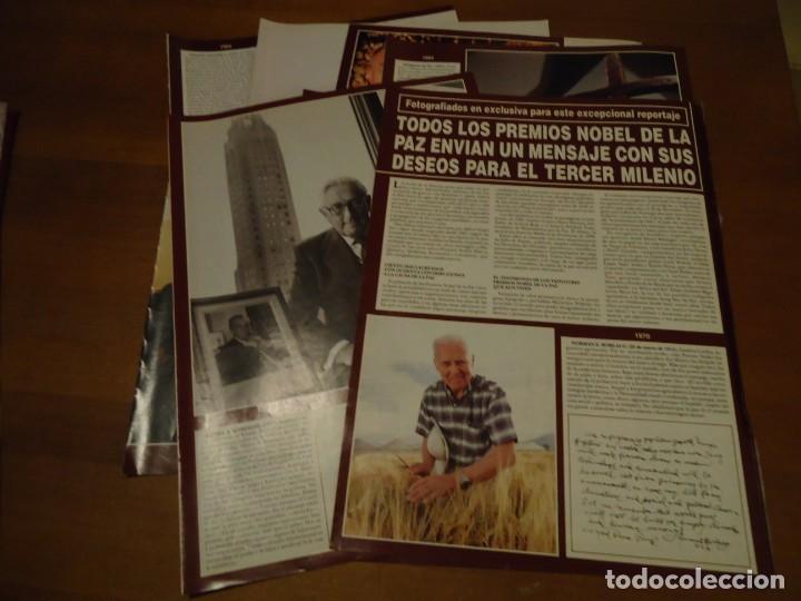 Coleccionismo de Revista Hola: Recorte reportaje revista hola año 2000 Todos los premios Nobel de la Paz - Foto 2 - 160721950