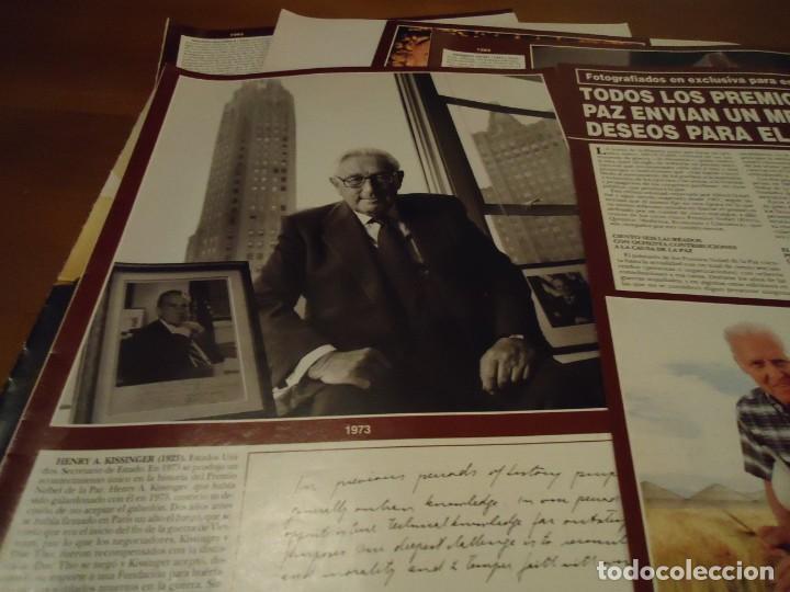 Coleccionismo de Revista Hola: Recorte reportaje revista hola año 2000 Todos los premios Nobel de la Paz - Foto 3 - 160721950
