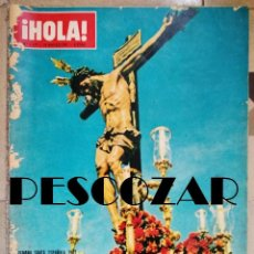 Coleccionismo de Revista Hola: REVISTA HOLA Nº 1177 - 18 MARZO 1967 - SEMANA SANTA, GARBO, BARDOT, MACLAINE, MICHELE MORGAN, COOKE. Lote 160932134