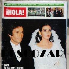 Collectionnisme de Magazine Hola: REVISTA HOLA Nº 1706 - 6 MAYO 1977 - BODA PALOMO LINARES MARINA DANKO, ROMY SCHNEIDER, PETER STRAUSS. Lote 160941382