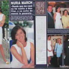 Coleccionismo de Revista Hola: RECORTE REVISTA HOLA Nº 2702 1996 NURIA MARCH. Lote 161117454