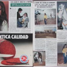 Coleccionismo de Revista Hola: RECORTE REVISTA HOLA Nº 1961 1982 LUCIA GRABO. EUROVISION. Lote 161790726