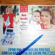 Coleccionismo de Revista Hola: RECORTE : MARIA GARRALON, DE LA SERIE VERANO AZUL, CON SU HIJA. HOLA, AGTO 1987 (). Lote 162375590