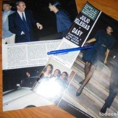 Coleccionismo de Revista Hola: RECORTE : JULIO IGLESIAS Y DASY, FELICES EN MIAMI. HOLA, ABRIL 1988 (). Lote 162378158