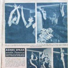 Coleccionismo de Revista Hola: RECORTE HOLA Nº 1009 1963 AGNES SPAAK. Lote 162572278