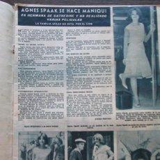 Coleccionismo de Revista Hola: RECORTE HOLA Nº 984 1963 AGNES SPAAK. Lote 162574606