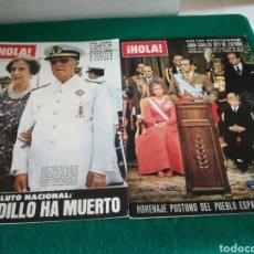 Coleccionismo de Revista Hola: REVISTA HOLA HACIENDO REFERENCIA A FRANCO. Lote 162584392