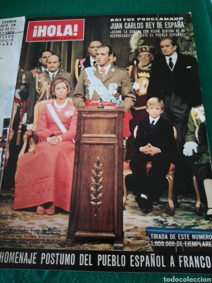 Coleccionismo de Revista Hola: REVISTA HOLA HACIENDO REFERENCIA A FRANCO - Foto 3 - 162584392