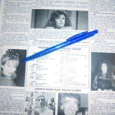Coleccionismo de Revista Hola: RECORTE : ENTREVISTA A VICTORIA VERA. HOLA, MARZO 1984 (). Lote 162841478