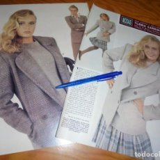 Coleccionismo de Revista Hola: RECORTE : YLENIA, LA HIJA DE ROMINA POWER Y AL BANO, MODELO. HOLA, OCTBRE 1987 (). Lote 162844062