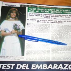 Collezionismo di Rivista Hola: RECORTE : MISS IRLANDA, SALVA LA VIDA MILAGROSAMENTE. HOLA, DCIBRE 1984 (). Lote 163331534