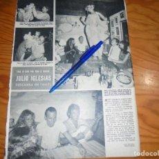 Coleccionismo de Revista Hola: RECORTE : JULIO IGLESIAS DESCANSA EN TAHITI . HOLA, DCIBRE 1984 (). Lote 163332198