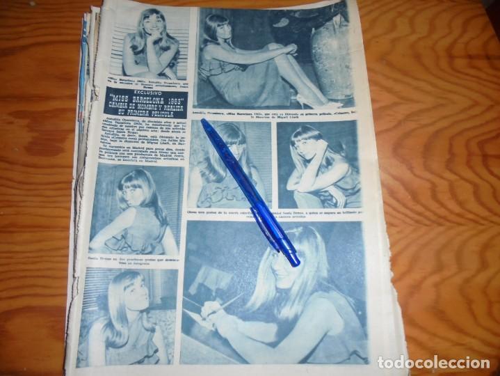 RECORTE : MISS BARCELONA, ANTOÑITA OYAMBURU, REALIZA SU PRIMERA PELICULA. HOLA, JUNIO 1963 () (Coleccionismo - Revistas y Periódicos Modernos (a partir de 1.940) - Revista Hola)