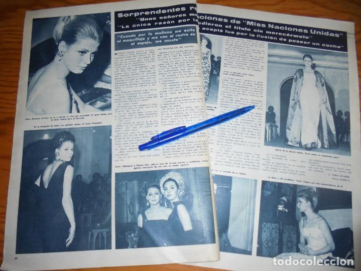 RECORTE : SORPRENDENTES DECLARACIONES DE MISS NACIONES UNIDAS. HOLA, ABRIL 1965 () (Coleccionismo - Revistas y Periódicos Modernos (a partir de 1.940) - Revista Hola)