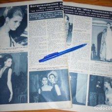 Collectionnisme de Magazine Hola: RECORTE : SORPRENDENTES DECLARACIONES DE MISS NACIONES UNIDAS. HOLA, ABRIL 1965 (). Lote 163499206