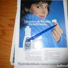 Coleccionismo de Revista Hola: RECORTE : ANA OBREGON, PUBLICIDAD DE WOOLITE. HOLA, JUNIO 1983 (). Lote 165858570