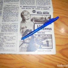 Coleccionismo de Revista Hola: PUBLICIDAD PELICULA : LOS TARTAROS. ORSON WELLES, VICTOR MATURE. HOLA, JULIO 1962 (). Lote 163578270
