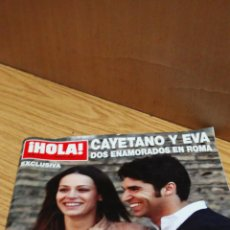 Coleccionismo de Revista Hola: CAYETANO Y EVA GONZÁLEZ. Lote 163614766