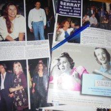 Collectionnisme de Magazine Hola: RECORTE : MAGICA NOCHE DE SERRAT... MARTA SANCHEZ, ANTONIO CARMONA. HOLA, OCTBRE 1995 (). Lote 164053606